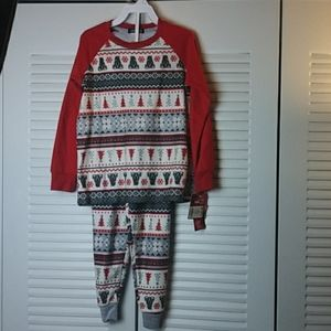 CuddlDuds Girl Christm 2Piece Pajama Set SZ S 6/6X